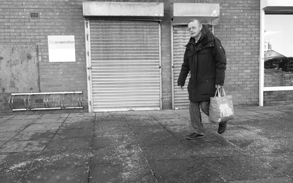 Outside the Co-Op in Wavertree. Liverpool January 2018.