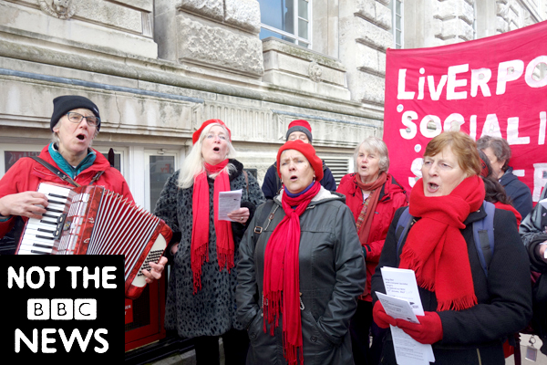 Liverpool Socialist Singers. Publicity shot for the film. Liverpool 2018.