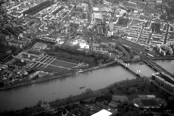 The river Thames from the air. February 2018.