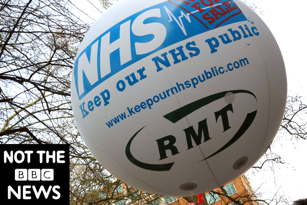 Keep our NHS public. Publicity shot for the film. London 2017.