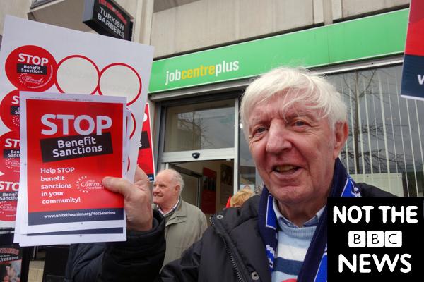 Stop Benefit Sanctions. Publicity shot for the film. Liverpool 2017.